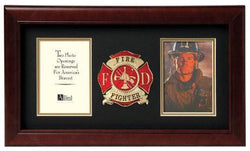 Flag Connections Fire Fighter Dual Picture Frame