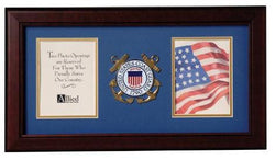 Flag Connections United States Coast Guard Dual Picture Frame