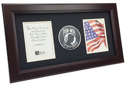 Flag Connections POW/MIA Medallion 8-Inch by 16-Inch Vertical Frame
