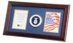 Flag Connections U.S. Air Force Medallion 4-Inch by 6-Inch Double Picture Frame