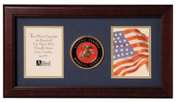 Flag Connections United States Marine Corps Dual Picture Frame