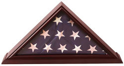 5x9 Flag Display Case Shadow Box (For Burial/Funeral/Veteran Flag) with Cherry Finish