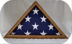 Small 3x5 Flag Display Case - Solid Oak Wood - NOT for Large Burial Size Flag