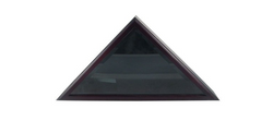Cadet III Flag Display Case for 3ft x 5ft Flag in Dark Black Cherry finish