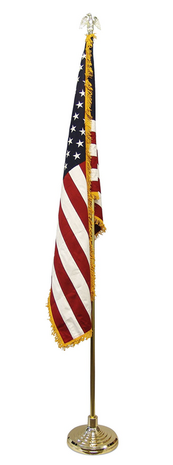 Low Cost Super Tough Indoor American Flag and Pole Kit