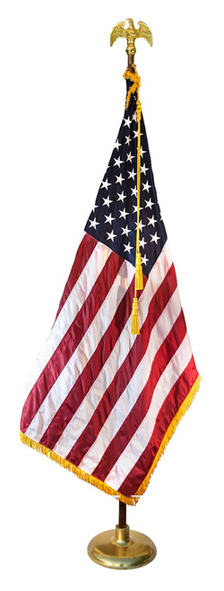 8ft Deluxe Indoor American Flag Set