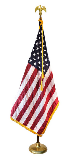 9ft Deluxe Indoor American Flag Set