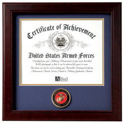 Flag Connections United States Marine Corps Certificate of Achievement Frame.