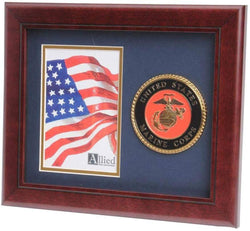 US Marine Corps Medallion Portrait Picture Frame - 4 x 6 Picture Opening