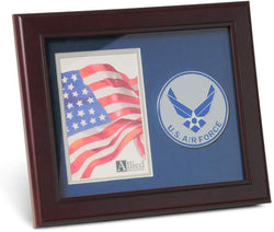 Aim High Air Force Medallion 4 by 6 inch Portrait Picture Frame