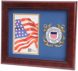 US Coast Guard Medallion Portrait Picture Frame - 4 x 6 Picture Opening