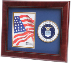 US Air Force Medallion Portrait Picture Frame - 4 x 6 Picture Opening