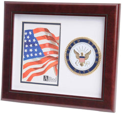 US Navy Medallion Portrait Picture Frame - 4 x 6 Picture Opening