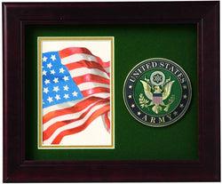 US Army Medallion Portrait Picture Frame - 4 x 6 Picture Opening