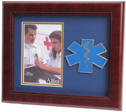 US Air Force Wings Medallion Portrait Picture Frame - 4 x 6 Picture Opening