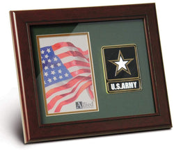 US EMS Medallion Portrait Picture Frame - 4 x 6 Picture Opening