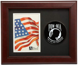 US Flag Store POW/MIA Medallion 4-Inch by 6-Inch Portrait Picture Frame