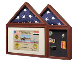 Capitol Flag Case with Certificate/Shadow Box – Holds 3' x 5' Flag
