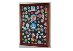 Collector Medal/Lapel Pin Display Case Holder Cabinet Shadow Box