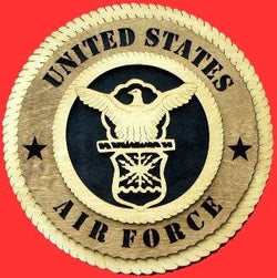 Air Force Wall Tribute Hand Made of wood 3D, Wall Plaque