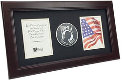 Flag Connections US Flag Store POW/MIA Medallion 8-Inch by 16-Inch Vertical Frame