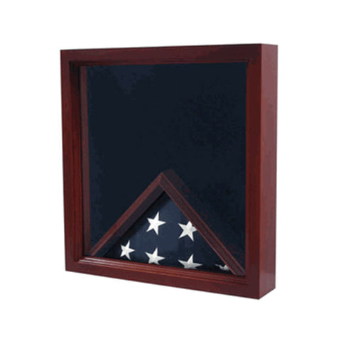 Air Force Flag, Medal Display Case, Flag Shadow Box - Cherry or Oak or Walnut or Mahogany or Black Material.