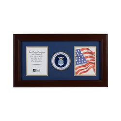 U.S. Air Force Medallion 4-Inch by 6-Inch Double Picture Frame
