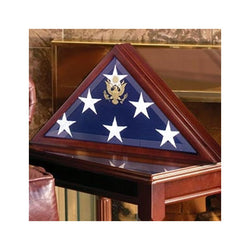 American Burial Flag Box, Large Coffin Flag Display Case - Folded American Flag 5' x 9.5' (Burial Flag).