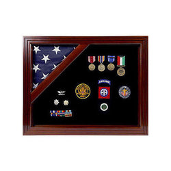 Colonial flag display case - Fit 3' x 5' Flag.