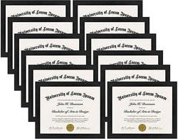 Flag Connections 12 Pack - Document Frames - Made to Display Certificates 8.5x11