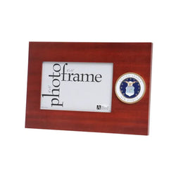 U.S. Air Force Medallion 4-Inch by 6-Inch Desktop Picture Frame