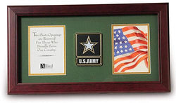 Flag Connections US Go Army Medallion Double Picture Frame - Two 4 x 6 Photo Openings