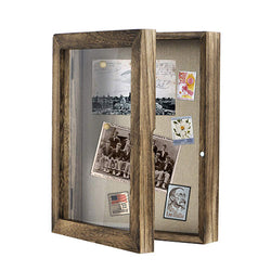 Shadow Box Frame 8x10 Shadow Box Display Case with Linen Back Memorabilia Awards Medals Photos Memory Box