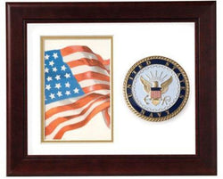 Flag Connections United States Navy Vertical Picture Frame.