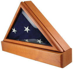 Flag Connections Officers Flag Display Case for 5ft x 9.5ft Flag and Optional Pedestal