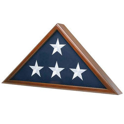 Flag Case for American Veteran Burial Flag 5' x 9.5', Cherry Finish S