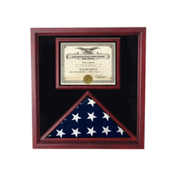 "Flag and Document Display Case - Fit 5"" x 8"" flag."