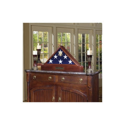 Burial Display case for flag - 3ft x 5ft American Flag or 5ft x 9.5ft Flag, American Burial Flag.