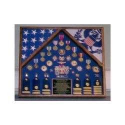 Military 2 Flag Shadow case, 2 Flag Military flag display case -Fit 3' x 5' Flag.