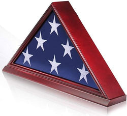 Solid Wood and Not Veneer - Removable Back Plate - Flag Shadow Box
