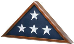 Flag Connections Flag Case for American Veteran Burial Flag 5' x 9.5', Cherry Finish S