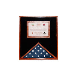 Flag and Document Case for 3ft x 5ft or 5ft x 8ft or 5ft x 9.5ft US Made - Fit 3' x 5' or 5' x 8' or 5' x 9.5' Casket Flag.