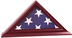 3'x5' Flag Display Case, Shadow Box (Not for Burial Funeral Flag), Solid Wood, Cherry Finish