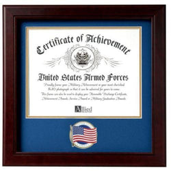 Flag Connections US American Flag Certificate of Achievement Picture Frame with Medallion.