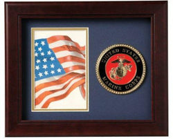 Flag Connections United States Marine Corps Vertical Picture Frame.