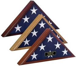 4 x 6 Flag Display Case, 4 ft x 6 ft Flag Display case, Oak Wood Flag Display case for 4x6 Flag