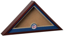 Flag Connections US Patriotic Internment Burial Flag Display Case with American Flag Medallion