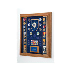 Flags Connections - Awards Display Case - Military Awards Display Case - Red, Blue, Green or Black Background Color.