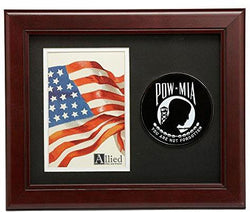 Flag Connections POW/MIA Medallion 4-Inch by 6-Inch Portrait Picture Frame