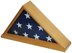 Flag Connections Solid Wood Memorial 5' x 9.5' Flag Display Case Frame